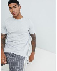 Pull&Bear - Join Life Basic T-shirt In Grey - Lyst