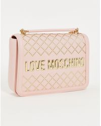 Love Moschino Розовая Стеганая Сумка На Плечо С Логотипом -розовый Цвет