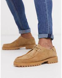 H by Hudson Zapatos safari con cordones en ante beis Sledge - Multicolor