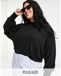 Simply Be Blouse With Balloon Sleeve - Black