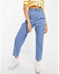 Lee Jeans Lee - jeans azzurri a vita alta con pieghe e gamba a palloncino - Blu