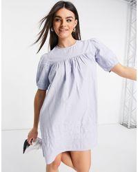 Warehouse Vestido corto azul claro
