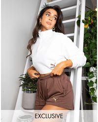 PUMA Свободные Шорты С Высокой Талией Длиной 5 Дюймов Шоколадного Цвета Training X Stef Fit Эксклюзивно Для Asos-коричневый Цвет