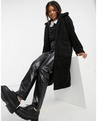 Brave Soul Пальто Из Искусственной Цигейки -черный
