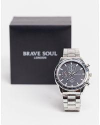 Brave Soul Montre-bracelet épaisse - Métallisé