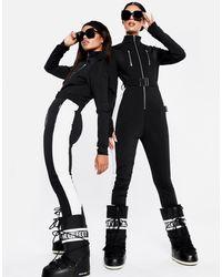 Missguided Ski Slim Fit Snow Suit - Black