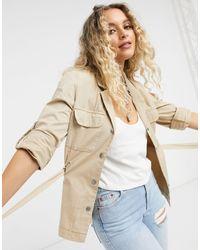 Vero Moda Belted Safari Jacket - Natural