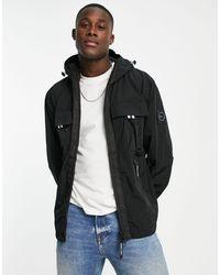 Marshall Artist Chaqueta negra con capucha molecular - Negro