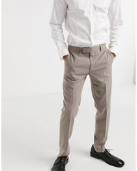 Moss Bros Moss London Suit Pants With Stretch - Brown