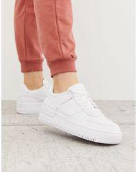 Nike Air Force 1 '07 Sneaker Van Leer - Wit