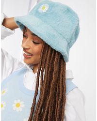 ASOS Pluizige Bucket Hat - Groen