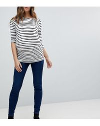 New Look - Under The Bump Dark Blue Jegging - Lyst