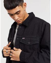 Tommy Hilfiger Черная Oversized-куртка С Подкладкой Из Искусственного Меха -черный Цвет