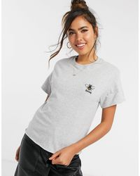 Miss Selfridge Bee strong - T-shirt - Gris