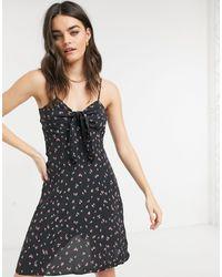& Other Stories Floral Print Tie Waist Mini Dress - Multicolour