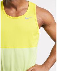 Nike Breathe - Canotta gialla - Giallo