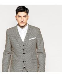 Heart & Dagger Dogtooth Suit Jacket - Brown