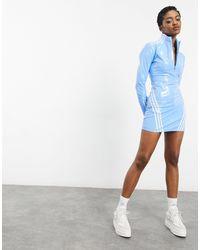 Ivy Park Adidas X Zip Through Latex Dress - Blue