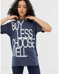 Vivienne Westwood Anglomania Buy Less Slogan Tee - Gray