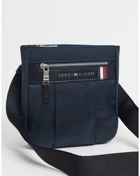 Tommy Hilfiger Elevated Nylon Mini Crossover Bag - Blue