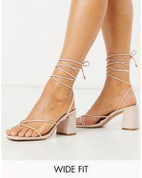 Raid Wide Fit Jennifer Super Strappy Heeled Sandals - Pink