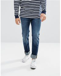 Lee Jeans Rider Slim Fit Jean Pacific Worn - Blue
