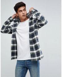 Jack & Jones - Originals Flannel Shirt With Hood - Lyst