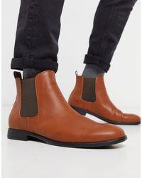 Jack & Jones Светло-коричневые Ботинки Челси -коричневый