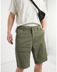 Levi's Youth Mariner - Short cargo léger en sergé avec poche plaquée - Olive nuptial - Vert