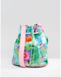 Jaded London - Satin Cactus Bucket Bag - Lyst