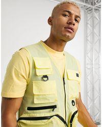 Criminal Damage – Utility-Trägershirt aus Nylon - Gelb