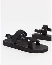 Pull&Bear Tech Sandals - Black