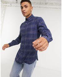 Polo Ralph Lauren - Рубашка В Клетку С Карманами -серый - Lyst