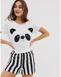 Brave Soul Pyjamaset Met Short En Pandaprint - Meerkleurig