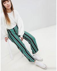 New Look - Stripe Wide Leg Pants - Lyst
