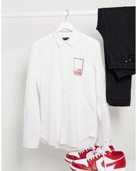 Love Moschino Рубашка С Длинными Рукавами И Логотипом -белый