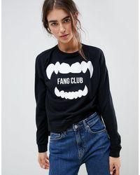 ONLY Halloween - Fang Club - Sweatshirt - Zwart