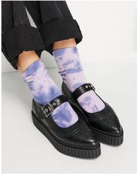 LAMODA Flat Shoes With Buckle - Black