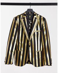 Twisted Tailor Черный Пиджак С Золотистыми Полосами -золотой - Металлик