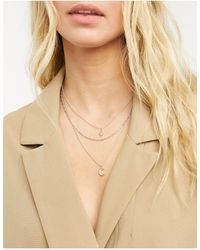 Miss Selfridge Collar dorado rosa - Multicolor