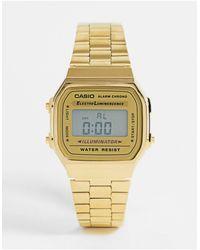 G-Shock Цифровые Часы С Позолоченным Браслетом В Стиле Унисекс A168wg-9ef-золотистый - Металлик