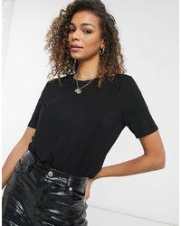 Oasis Formal T-shirt With Step Hem - Black