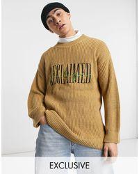 Reclaimed (vintage) Вязаный Джемпер С Вышитым Логотипом Inspired-коричневый