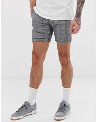 Blend – Shorts mit Karo-Print - Grau
