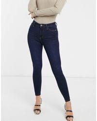 River Island High Rise Skinny Jeans - Blue