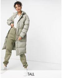 Missguided Longline Padded Jacket - Multicolour