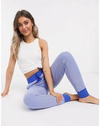 Lauren by Ralph Lauren – Lounge-Jogginghose mit Bündchen - Blau