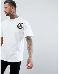 The Couture Club - T-shirt In White With Century Logo - Lyst