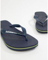 Havaianas Brasil - Infradito blu navy con logo