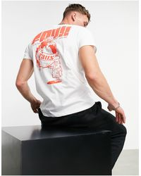 Friend or Faux Platter Printed T-shirt - White